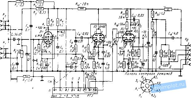 по резисторной схеме;