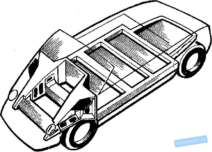 Кузов автомобиля несущего типа