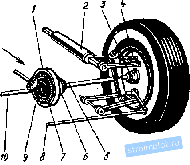 схема устройства передней